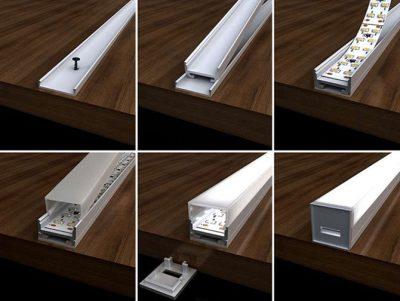 Светодиодная лента в коробе