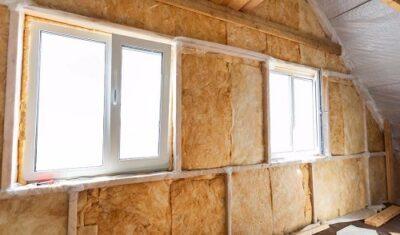 Внутренняя стена с утеплителем